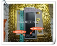 Wholesale 2pcs High Capacity Battery mAh EB BN916BBC For Samsung Galaxy Note IV N9100 Note4 With N910cq