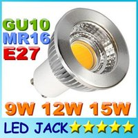 Wholesale New Dimmable CREE W W W COB Led Spot Bulbs Light Lamp E27 MR16 GU5 GU10 Led Lights Warm Natrual Cool White AC V V CE UL CSA