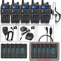 additional usb - DHL BAOFENG UV X Upgraded of UV R UHF VHF Walkie Talkie Additional Batteries Speaker Mic USB Program Cable