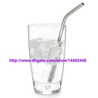 reusable straws - DHL Stainless Steel Straw Steel Drinking Straws quot g Reusable ECO Metal Drinking Straw Bar Drinks Party Stag