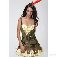 adult robin hood - Sexy women cosplay Party costumes Deluxe Racy Robin Hood Costume Adult cosplay halloween fantasias for women costumes