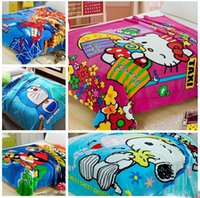 Wholesale Hot selling New cm spiderman styles baby children coral fleece blanket air condition sofa cartoon blanket CH