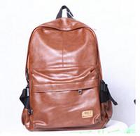 Wholesale designer brand fashion black genuine leather men s backpacks preppy style brown women backpack bolsas mochila feminina