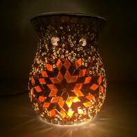 handmade candles - Tokin Brand Quality handmade Mosaic Tealight oil burner Candle Warmer Glass Incense Burner