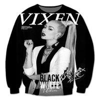 azalea size - Real USA size Iggy Azalea Fashion Print D Sublimation fleece Sweatshirt Crewneck Plus Size