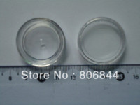 Wholesale Freeshipping x g small clear round bottle jars with lids hard plastic pot nail art storage