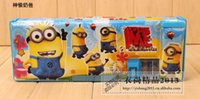 Wholesale by FEDEX Minion Stationery Set Pencil Case Cartoon Pen Cases Pencil Box For School