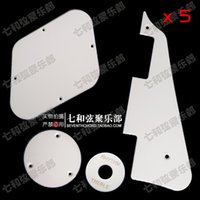 Wholesale A set White Guitar Pickguard Cavity Cover Switch Cover Pickup Selector Plate For LP Electric guitar