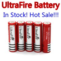 Wholesale 20pcs Rechargeable Ultrafire Ultra Fire mAh V Li lon Battery Batteries Lithium Charger WF Red for LED Flashlight torch