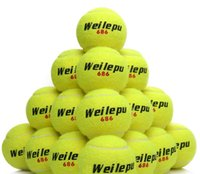 Wholesale 60pcs pack Primary Level Tennis Training Balls Tenis ball Club School Students Good Rubber Chemical Fiber