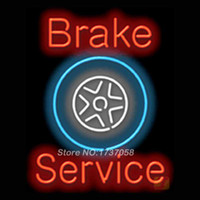 advertising design services - Brake Service Neon Sign Handcrafted Neon Bulbs Advertising Custom Design Gifts Real Glass Tube Store Display Art Sign x30