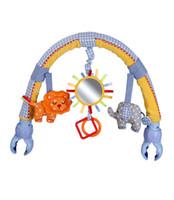 Wholesale baby bed stroller car clip lathe hanging Rattle Bell Animal plush toy Seat Take Along Travel Plush Bell Animal Toy