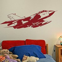 aeroplane wall stickers - 2016 Raf Aeroplane Army Vinly Wall Sticker For Boys Army Decor Wall Art Mural Home Decoration