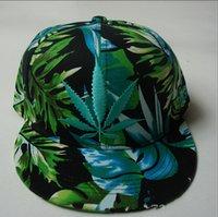 Cheap fashion unisex Weed Leaf Bucket Hat weed printed cap Cannabis Weed Pot Leaf Snapback Hat Baseball Cap hip hop street cap hats TOPB3841 500