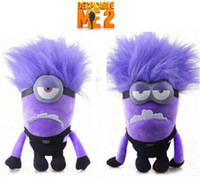 despicable me - 2pcs set Despicable Me Minions Evil Purple Plush Doll Toy despicable me purple plush