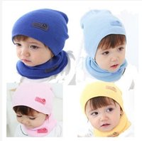 Wholesale High Quality New Fashion Colors Cute Winter Baby Caps and Scarvfs Sets Girls Boys Children Knitted Hats and Scarves Sets