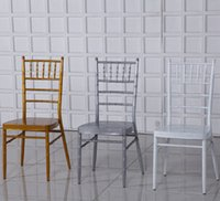 Wholesale chiavari chair bamboo chair for sale Iron pipe of golden and silver paint bamboo chair chair by Napoleon Castle Hotel Banquet