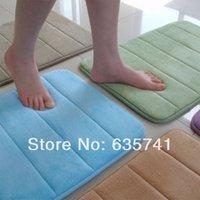 Wholesale New Memory Foam Bath Shower Mat Water absorbing Pad Non slip Rug Bathroom Carpet