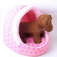 Wholesale Soft Comfortable Pet Dog Cat Bed House Kennel Warm Cushion Basket retail