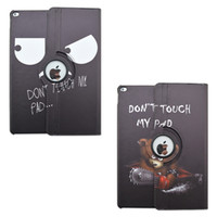 apple touch pad - For Apple iPad Pro quot Cover Rotating Smart Cases Dont touch my pad Painting Pattern PU Leather Flip Stand Covers