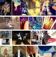 wool socks - Unisex Fashion maple leaf socks Weed Skateboard socks hiphop Plantlife Socks Weed sports crew leaf socks cotton hip hop Stockings A419