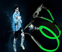 apple lighting control - Zipper style LED earphone Light up Luminous Headset Wired Control Lighting In ear Earphone Headphone with Mic for MP3 MP4 Samsung