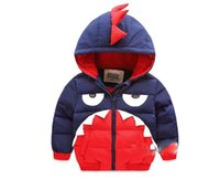 animal patches for clothes - Baby Boy Cartoon Cotton Outwear For Winter New Arrival Children Hooded Thicked Coat Kids Patched Colour Clothing Age