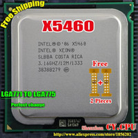 Wholesale Intel Xeon X5460 GHz M Processor close to LGA771 Core Quad Q9750 CPU works on LGA mainboard Pieces Free