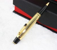 ballpoint ink refill - Bohemia Series MB Luxury Gold and Black Crystal Diamond Clip Ballpoint Pen with mm Refill Ink Christmas Gift for Lady