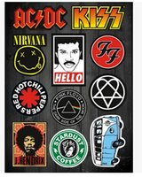 band pages - xterior Accessories Car Stickers Full page sticker retro rock band music festival stickers notebook stickers affixed waterproof case nece
