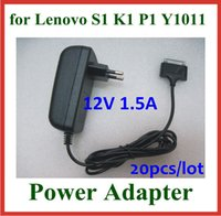 Wholesale 20pcs V A W Power Adapter Supply for Lenovo IdeaPad A1 K1 S1 Y1011 Tablet PC Wall Charger EU US UK Plug