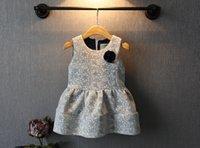 Wholesale woolen fabric Dresses Baby Girl Party Dress Tutu Dress flower Children Clothes Kids Clothing Child Dress new Dresses Autumn Princess Dress