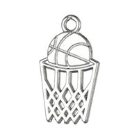 basketball gift baskets - 50pcs a Zinc Alloy Antique Silver Gold Plated Floating Basketball and Basket Sport Pendant Charms For Gift University DIY Jewelry