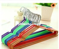 Wholesale 5pcs Non Slip Metal Shirt Trouser Hook Hangers Red Blue Yellow Purple Hangers For Clothes