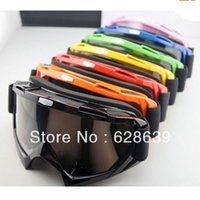 Wholesale 6PC HOT Black dirt BMX racing ATV motorcycle cross country motorcross goggles skiing goggles glasses