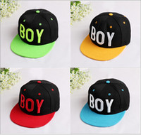 Wholesale Kid Caps Hip hop Hats For Children Boys Baseball cap Adjustable Cheap Snapbacks Hat Cap Sunhat Caps For Street dance kids Caps Fit Age T