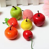 apple kitchen decor - New Bag Artificial Strawberry Apple Pears Peaches House Party kitchen Decor Mini Fake Fruit For Living Room