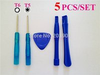 Wholesale 1200set in1 Opening Pry Tools Screwdriver Repair Disassemble Unlock Kit Set T5 T6 for Blackberry nokia LG