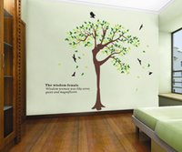 Cheap The Wisdom Of Female Tree Vinyl Wall Stickers For Kids Rooms Home Decor DIY Wallpaper Art Decals House Decoration CT231