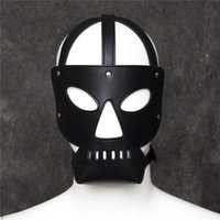 sexy toy for men - Adult Games Zipper Mouth Latex Faux Leather Sex Mask Sexy Fetish Bondage Mask Hood with Lock Sex Toys for Couples Erotic Toy free ship