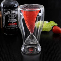 Wholesale Free DHL Creative Crystal Mermaid Glass Mug Cup Novelty Vodka Shot Drinking Bar Party Cup Coffee Cup