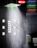 Wholesale Bathroom LED Shower Faucet Set Inch Atomizing And Rainfall Colors LED Shower Head Water Work Together Or Separately WMIL MF