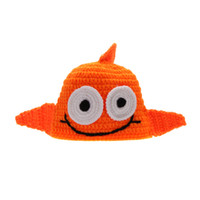 big fish photos - Baby Infant Crochet knitted Costume Hat Cap Golden Fish Big Eyes Soft Clothes Photo Photography Props for Month Newborn