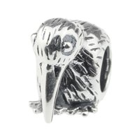 big bird baby - Beads Hunter Jewelry Authentic Sterling Silver Hungry Baby Bird Charm fashion mm big hole bead For mm European Bracelet snake chain