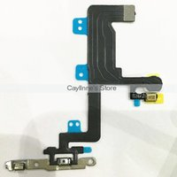 apple switch plates - 10pcs Power Switch ON OFF Flex With Metal Plate Bracket Assembly for iPhone inch