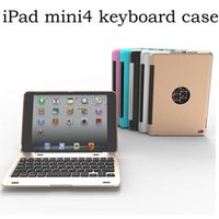 apple laptop clamshell - For Apple iPad Mini Clamshell Keyboard Case Laptop like Design Alumium Folio Shell ABS QWERTY Bluetooth Keyboard Carry Cover