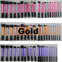high quality cosmetics makeup - Sedona Pieces soft hair dense gold makeup brush cosmetic complete kit Professional High Quality for gift or birthday