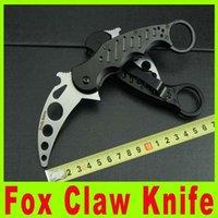 Cheap Hot Fox Claw Karambit Training Folding NOT sharp blade knife Outdoor gear survival EDC Pocket Knife Hunting Fighting Knives 657X