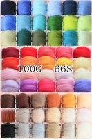 Wholesale quot single color series quot Wool felt Tops Roving DIY spin g Color Raw Wool Baize poke poke fun