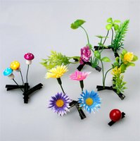 artificial long grass - Cute Flower Mushroom Grass Hair Pins Long On The Head Artificial Plant Adult Children Hair Accessories Chirstmas Gifts Chinese Trend K598